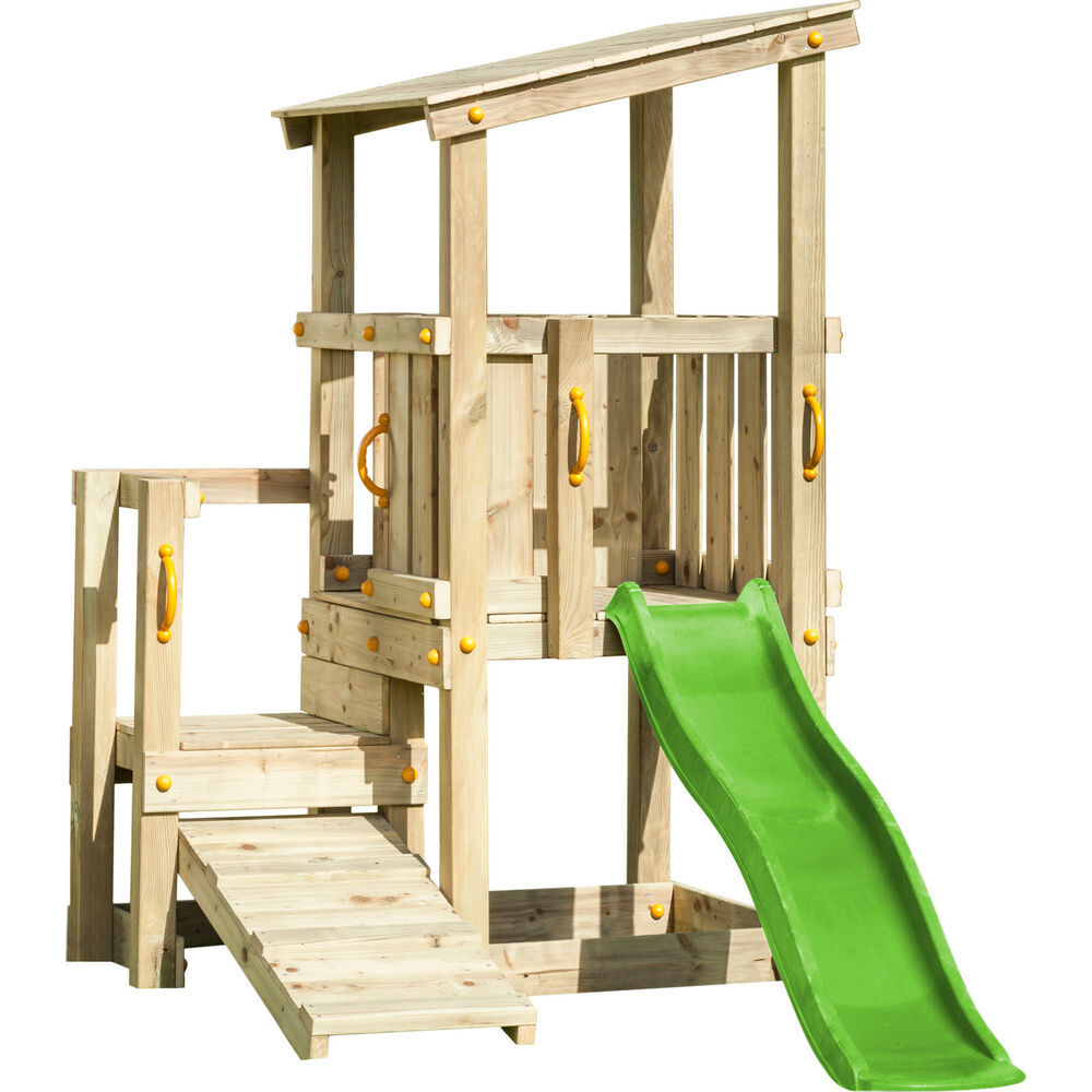 spielturm cascade mit rutsche 1 75 m kletterrampe kletterturm spielhaus holz ebay. Black Bedroom Furniture Sets. Home Design Ideas