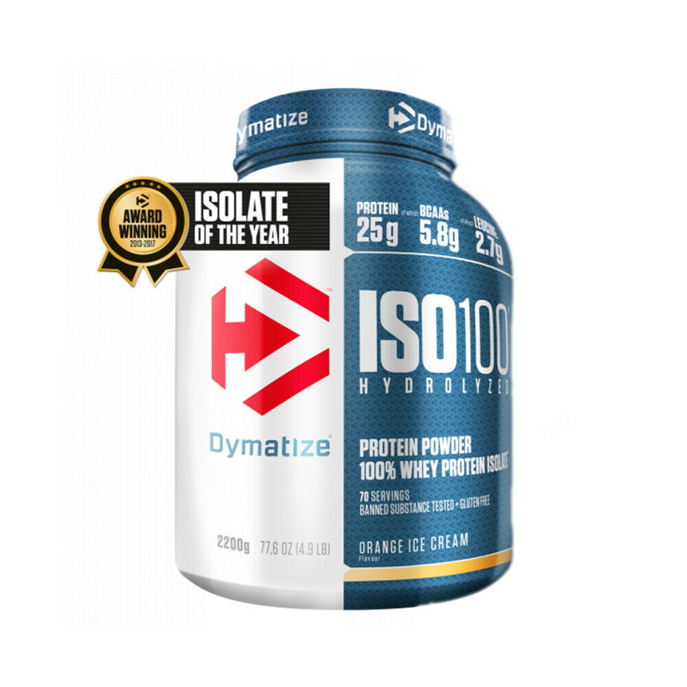 bc4b2e789 DYMATIZE NUTRITION ISO 100 WHEY PROTEIN ISOLATE ZERO CARB AND ZERO FAT ALL  SIZES