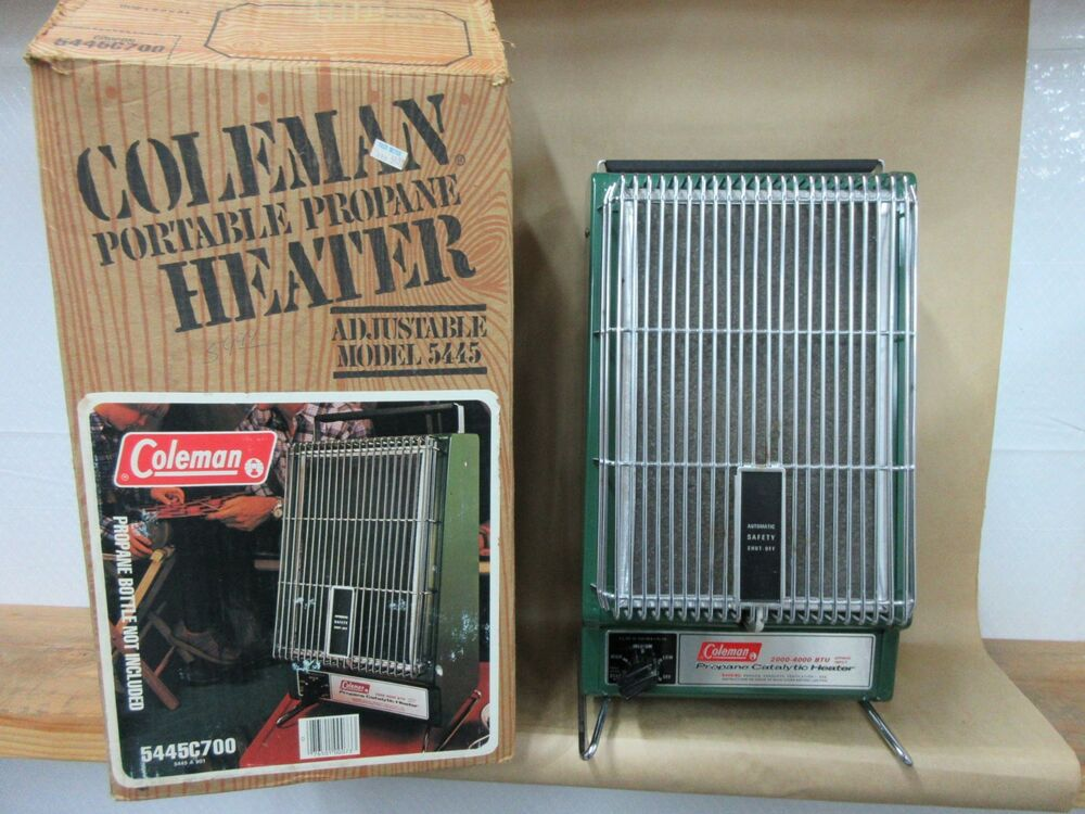 Vintage Coleman Propane Catalytic Heater In Box Looks