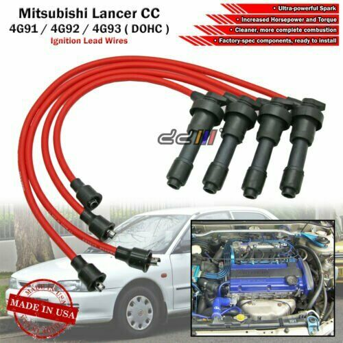 NEW 8mm Spark Plug Ignition Wire For Lancer Mirage 4G92 4G93 4G93T DOHC  92-95 | eBay