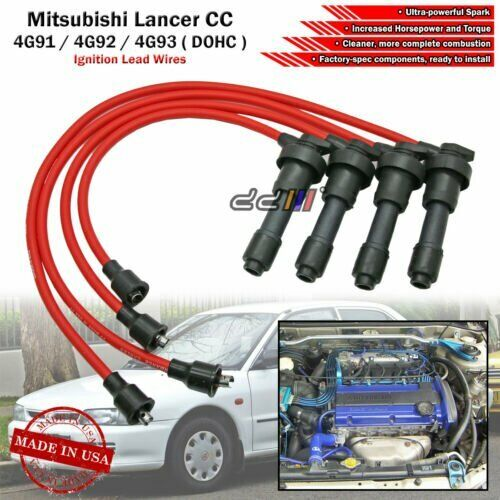 Mitsubishi 4g91 Wiring Diagram Library 4g64 New 8mm Spark Plug Ignition Wire For Lancer Mirage 4g92 4g93 4g93t Dohc 92 95