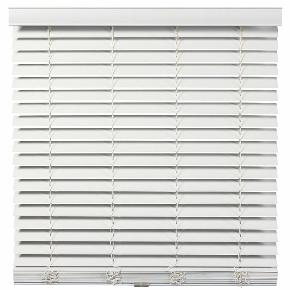 Cordless Wandless 2 Inch Faux Wood Blinds White Free