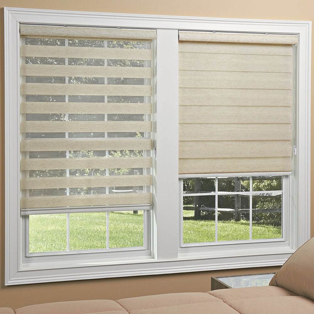 Light Filtering Sheer Roller Shades 2 Colors Free