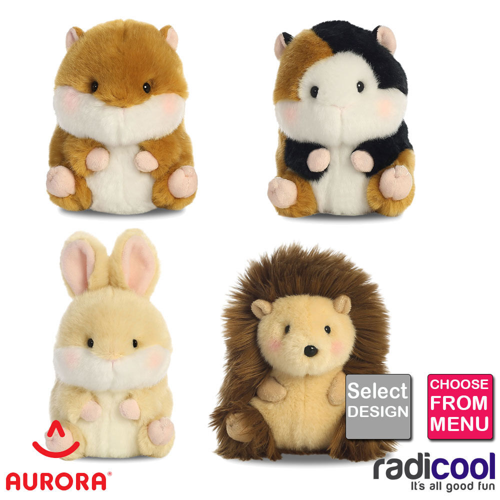 New Soft Toys : New aurora rolly pets plush soft toy animals size cm