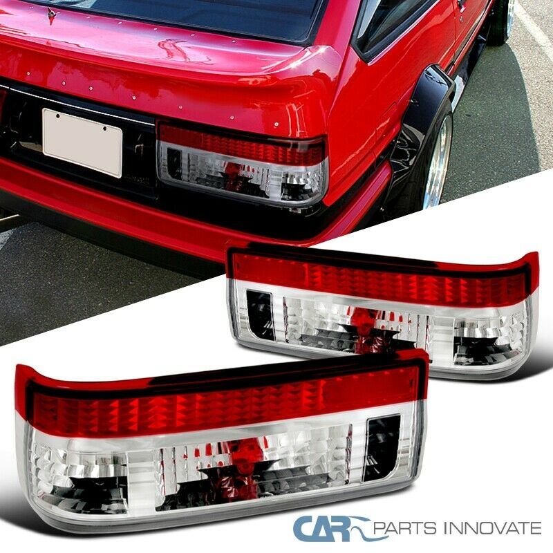 2001 Toyota Corolla Tail Lights: For Toyota 83-87 Corolla AE86 Hatchback Red Clear Tail