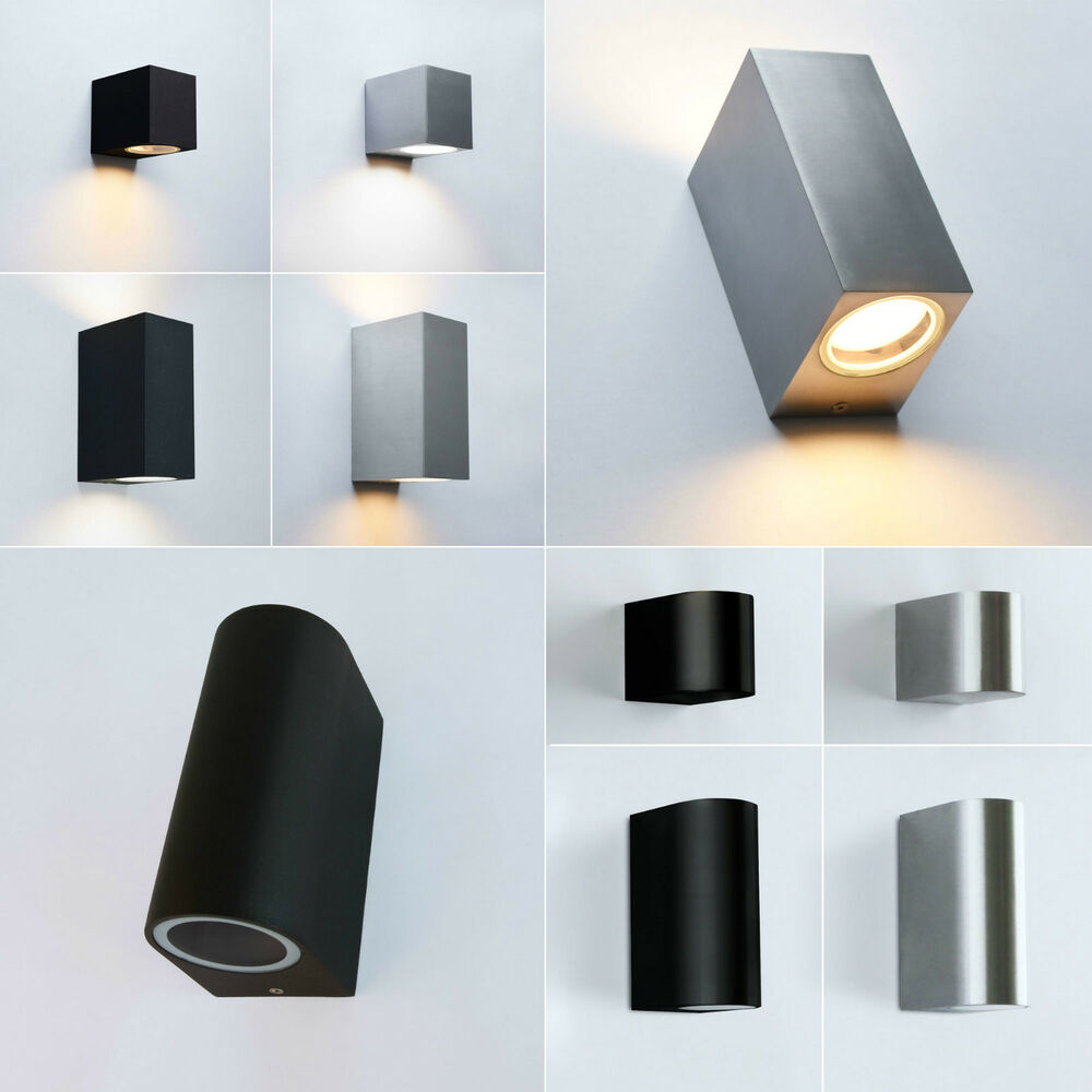 aussenwandleuchte aussenleuchte gu10 aussenlampe wandleuchte wandlampe leuchte ebay. Black Bedroom Furniture Sets. Home Design Ideas