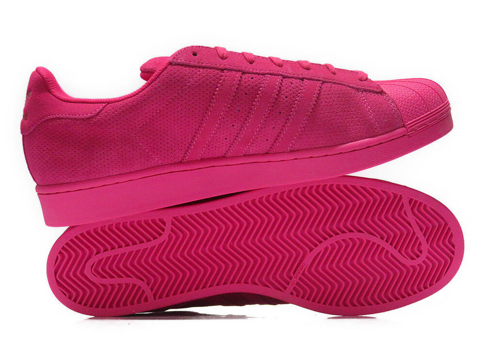 adidas superstar rt all pink mens suede shelltoes