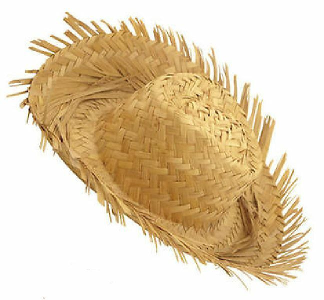 296ba602ce Details about Beachcomber Hawaiian Straw Hat Fancy Dress Mens Ladies Adults  Costume Accessory
