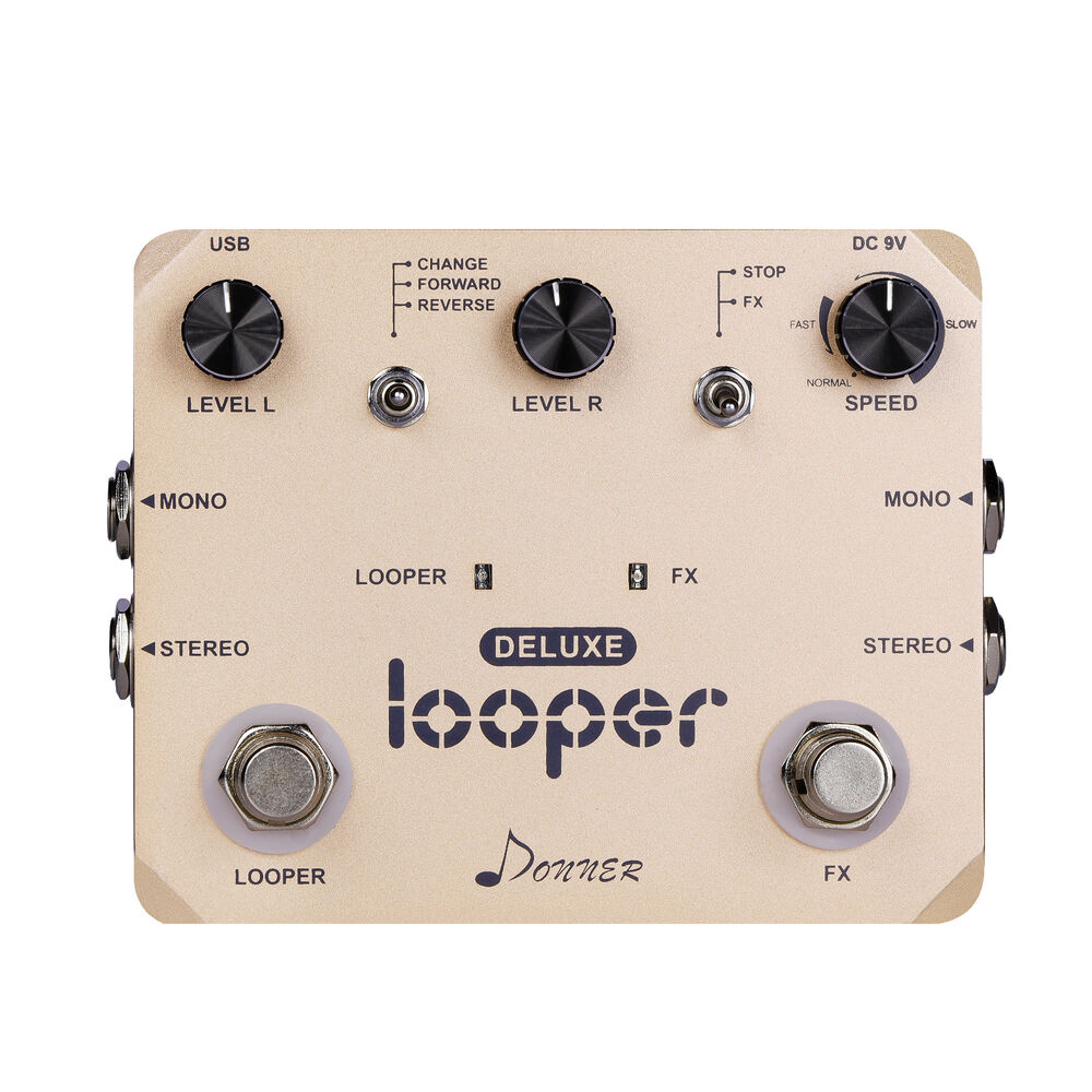 donner deluxe looper guitar effect pedal loop station top quality ebay. Black Bedroom Furniture Sets. Home Design Ideas