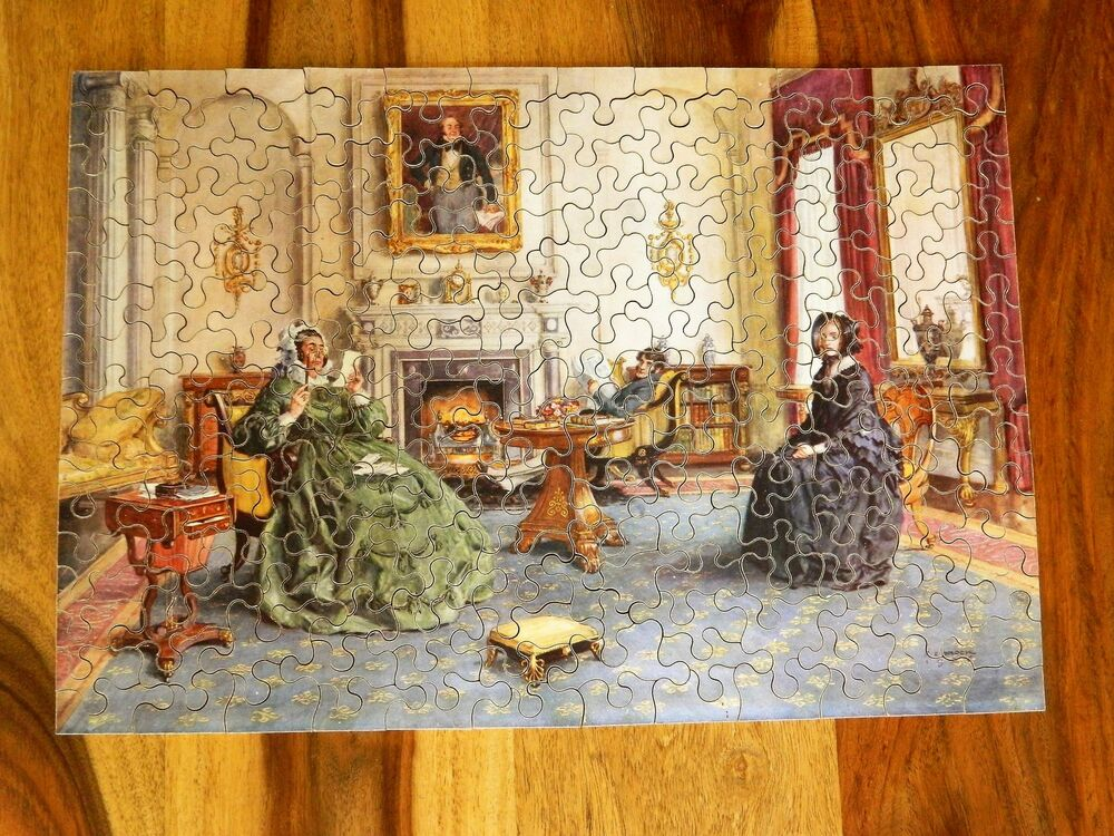 chad valley 1938 rare wooden promo 225 pc jigsaw puzzle