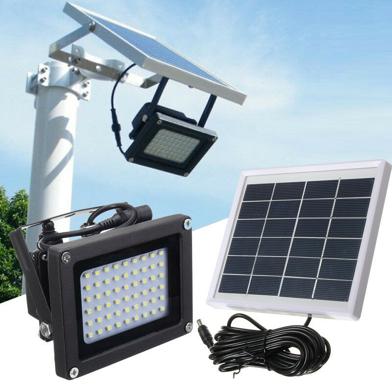 54 LED FloodLight Solar Powered Sensor Waterproof Outdoor