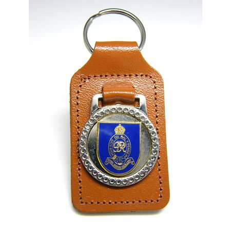 img-THE ROYAL HORSE ARTILLERY ARMY BADGE MILITARY DETAIL LEATHER KEYRING FOB GIFT