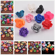 10pcs Mixed Polymer Clay Rose & Lily Flower Spacer Loose Beads Wholesale