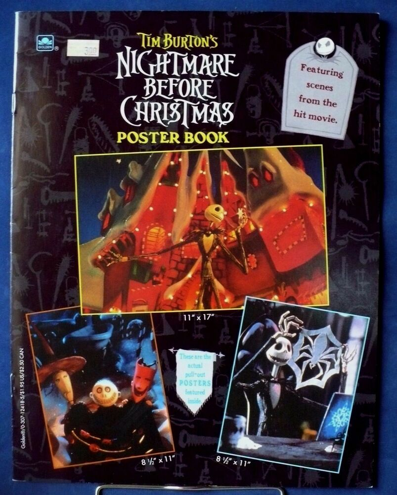 TIM BURTON\'S THE NIGHTMARE BEFORE CHRISTMAS POSTER BOOK JACK ...