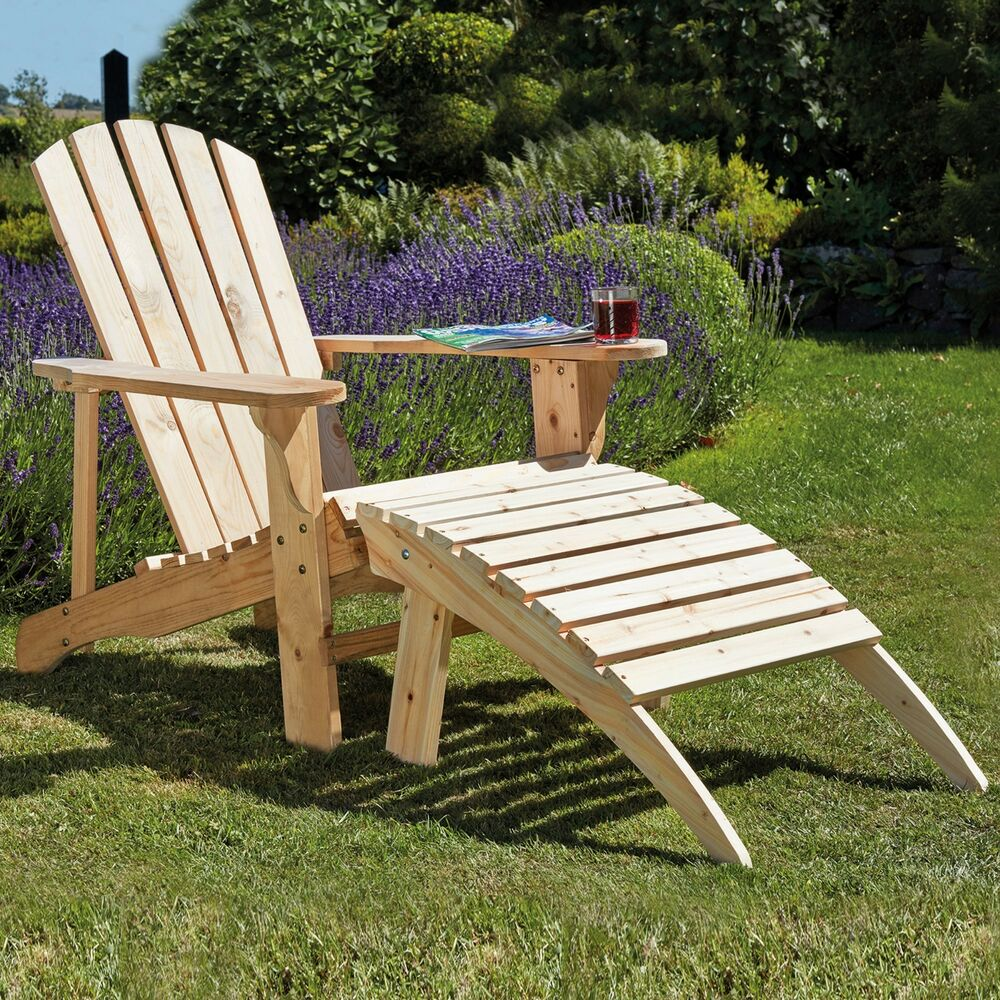 Wooden Adirondack Garden Chair Outdoor Patio Furniture