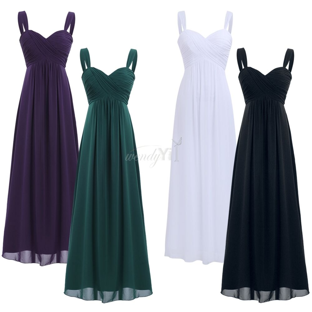99cb23b627df Details about Women Chiffon Wedding Bridesmaid Formal Long Dress Evening  Party Prom Ball Gowns