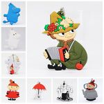 New Double Sides Moomin Valley Little My Soft Rubber Keychain keyring #