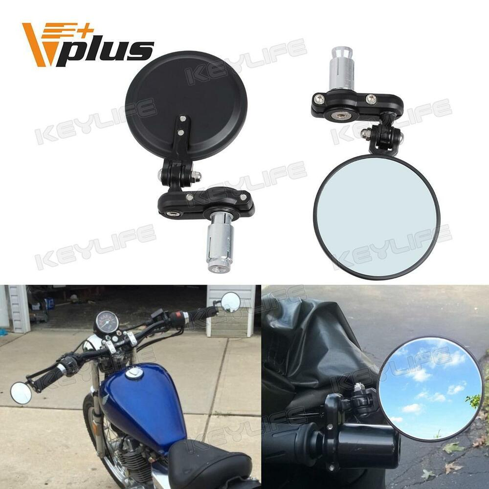 Motorcycle Rear View Mirrors Fodable Handlebar Bar End