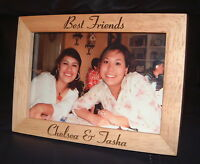 "5x7 Personalized Engraved ""Best Friends"" BFF Photo Frame"