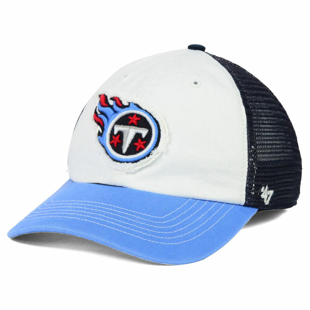 575e30a661789 Details about Tennessee Titans NFL  47 Privateer Closer Cap Hat Stretch-Fit  Mesh Football Lid