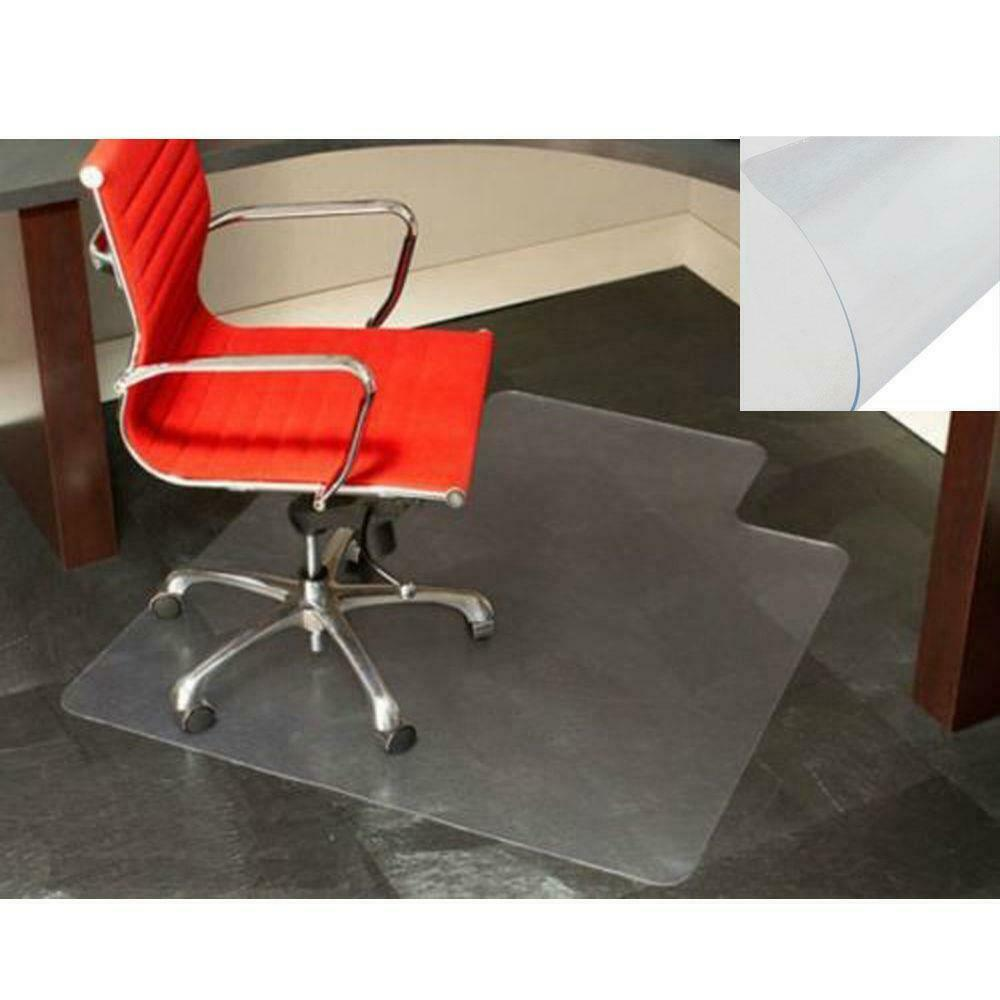new 48 x 36 thick pvc home office use chair floor mat for wood tile ebay. Black Bedroom Furniture Sets. Home Design Ideas