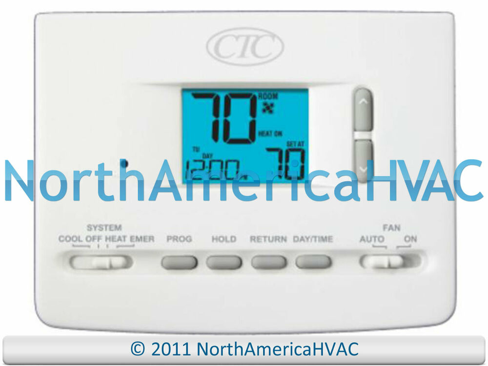 CTC 62100N Digital Home AC HP Furnace Thermostat 2H/1C 2 Heat 1 Cool ...