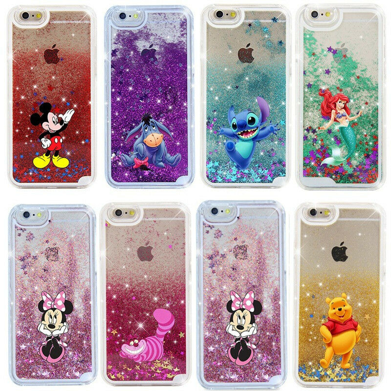 Cute Cartoon Disney Glitter Star Quicksand Case Cover for ...