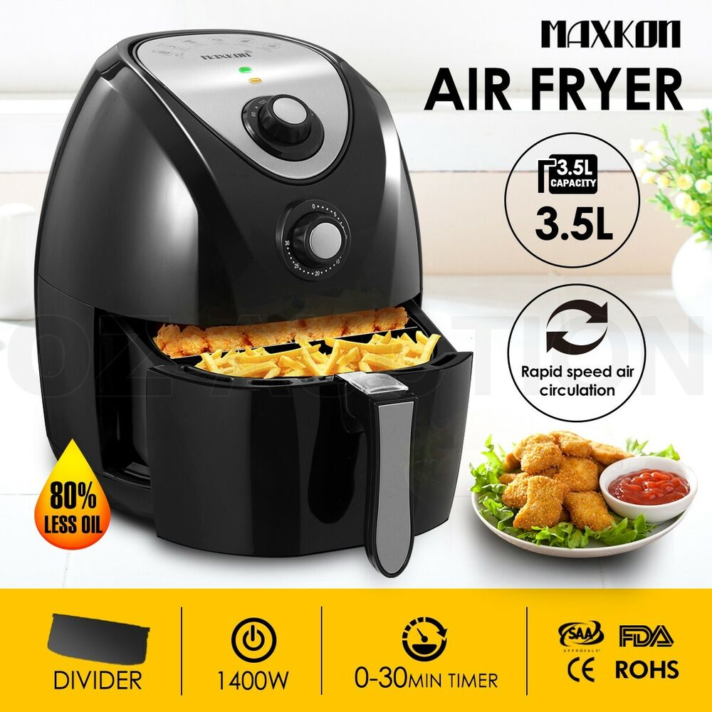 4.4L Low Fat Oil Free Air Fryer Kitchen Healthy Rapid