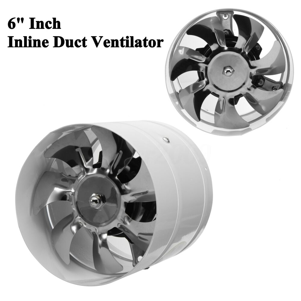 Air Vent Fans For Ducts : Quot duct fan booster exhaust ventilator ventilation