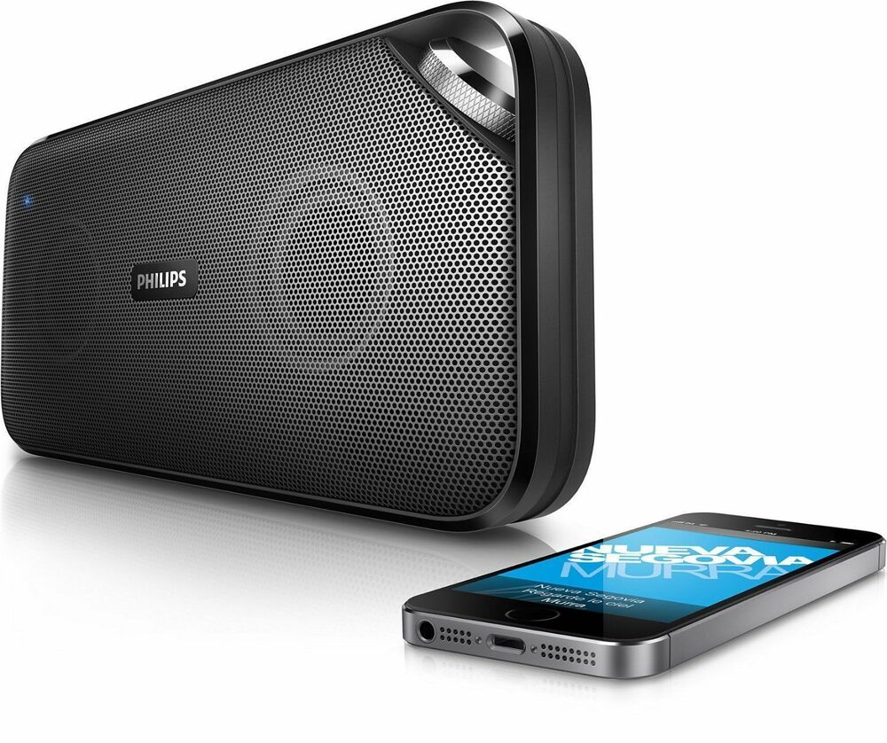 Philips BT3500B/37 Bluetooth NFC Wireless Portable Speaker With Mic- Black 695975658006