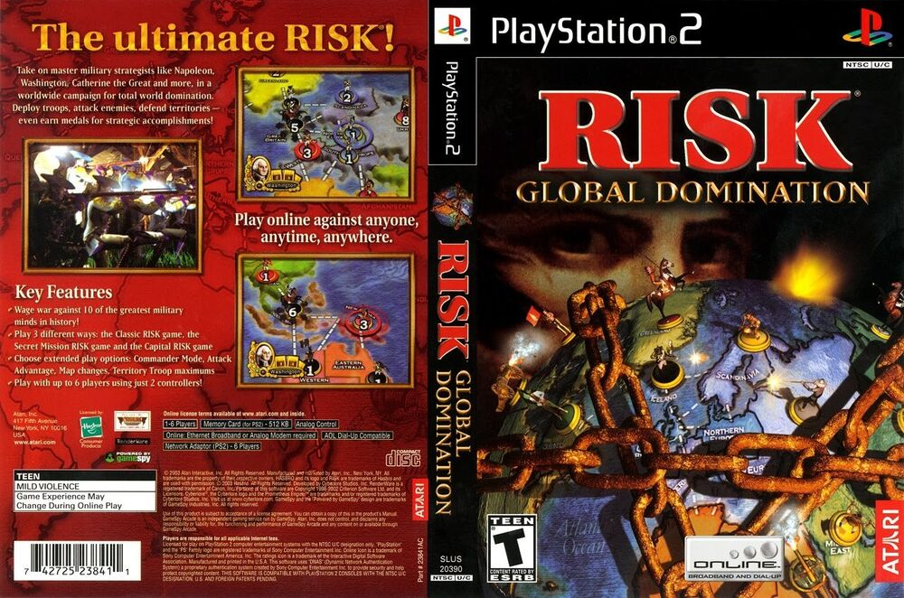 Hope, risk global domination ps2 idea not