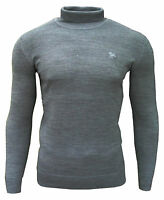 Soul Star Men's Dagenham Roll Neck Casual Jumper Light Grey X-Large