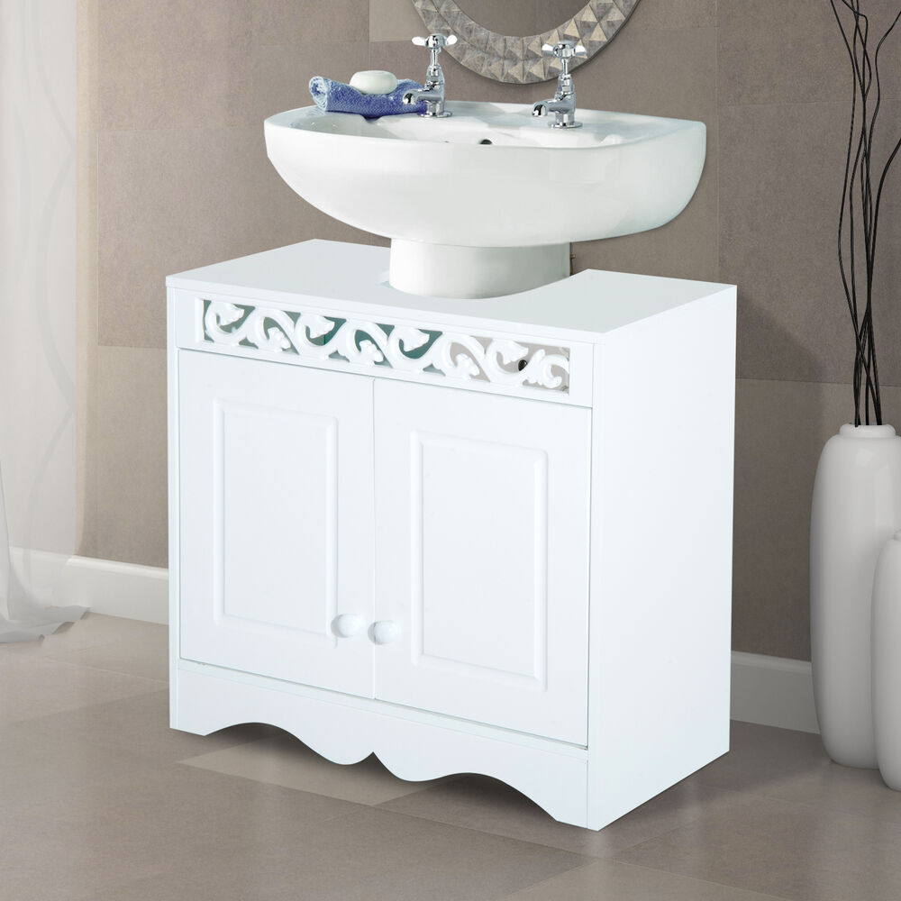 Under sink cabinet storage unit cupboard bathroom double - Under sink bathroom storage cabinet ...
