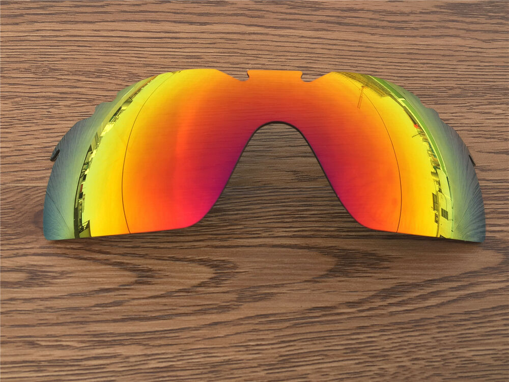 1f271ba07c Details about fire ruby red mirrored polarized Replacement Lenses for Oakley  Radarlock XL