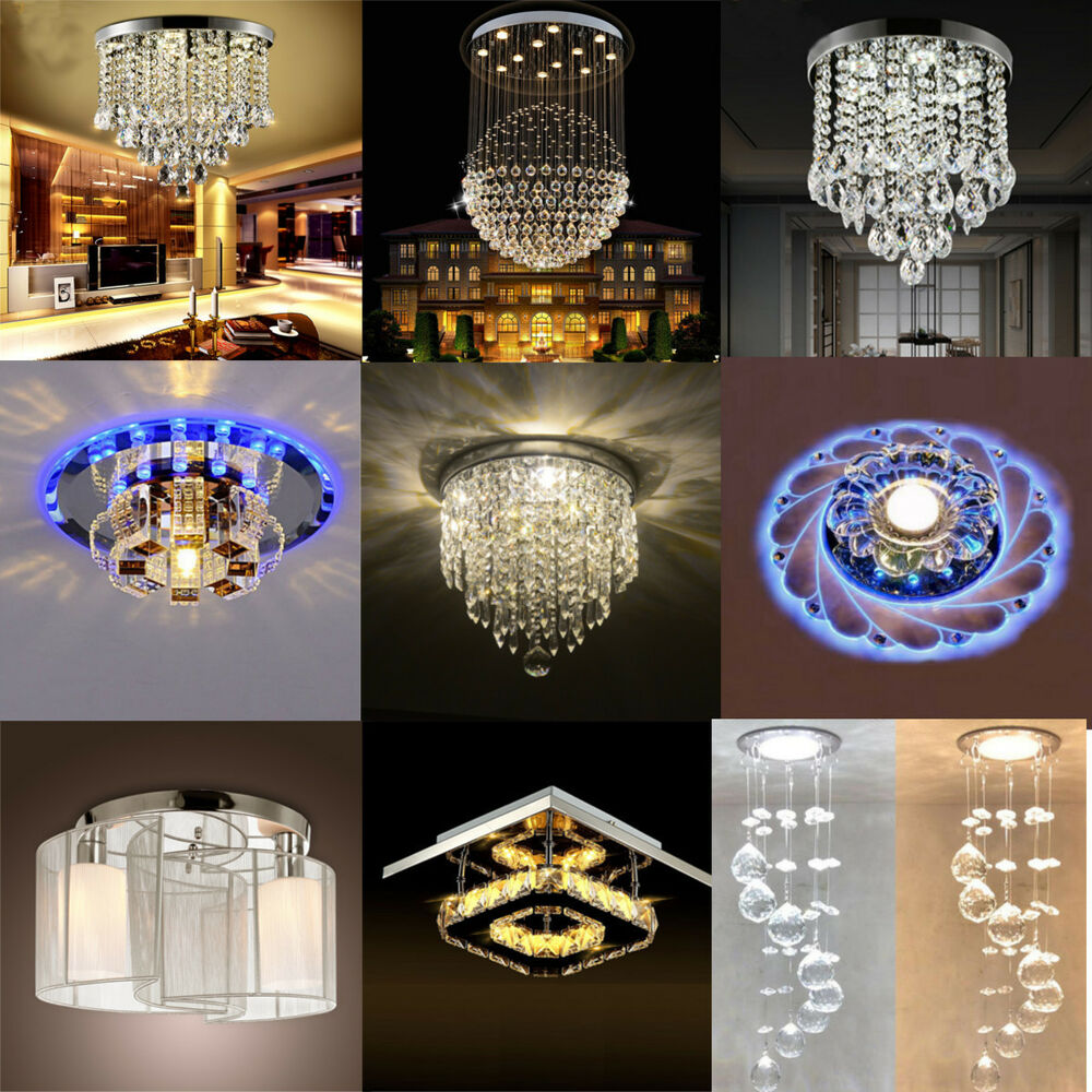 Dining Room Lighting Chandeliers: Modern Crystal Pendant Light Ceiling Lamp Chandelier