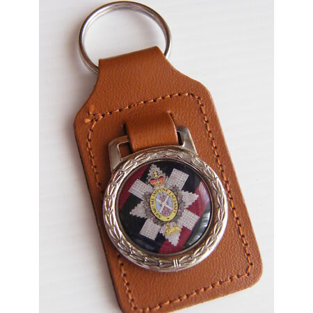 img-THE BLACK WATCH MILITARY ARMY BADGE DETAIL LEATHER KEYRING KEY FOB GIFT
