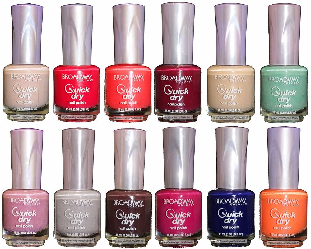 BROADWAY COLORS .5 oz QUICK DRY Lacquer/Enamel NAIL POLISH New! *YOU ...