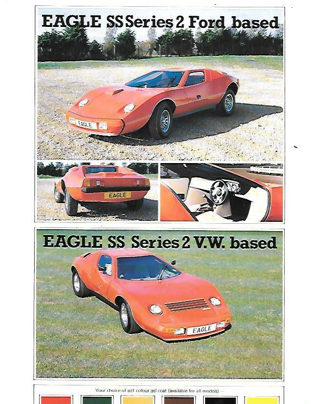 Eagle Cars Ss Series 2 Ford And Vw Based Kit Car Sales Brochure