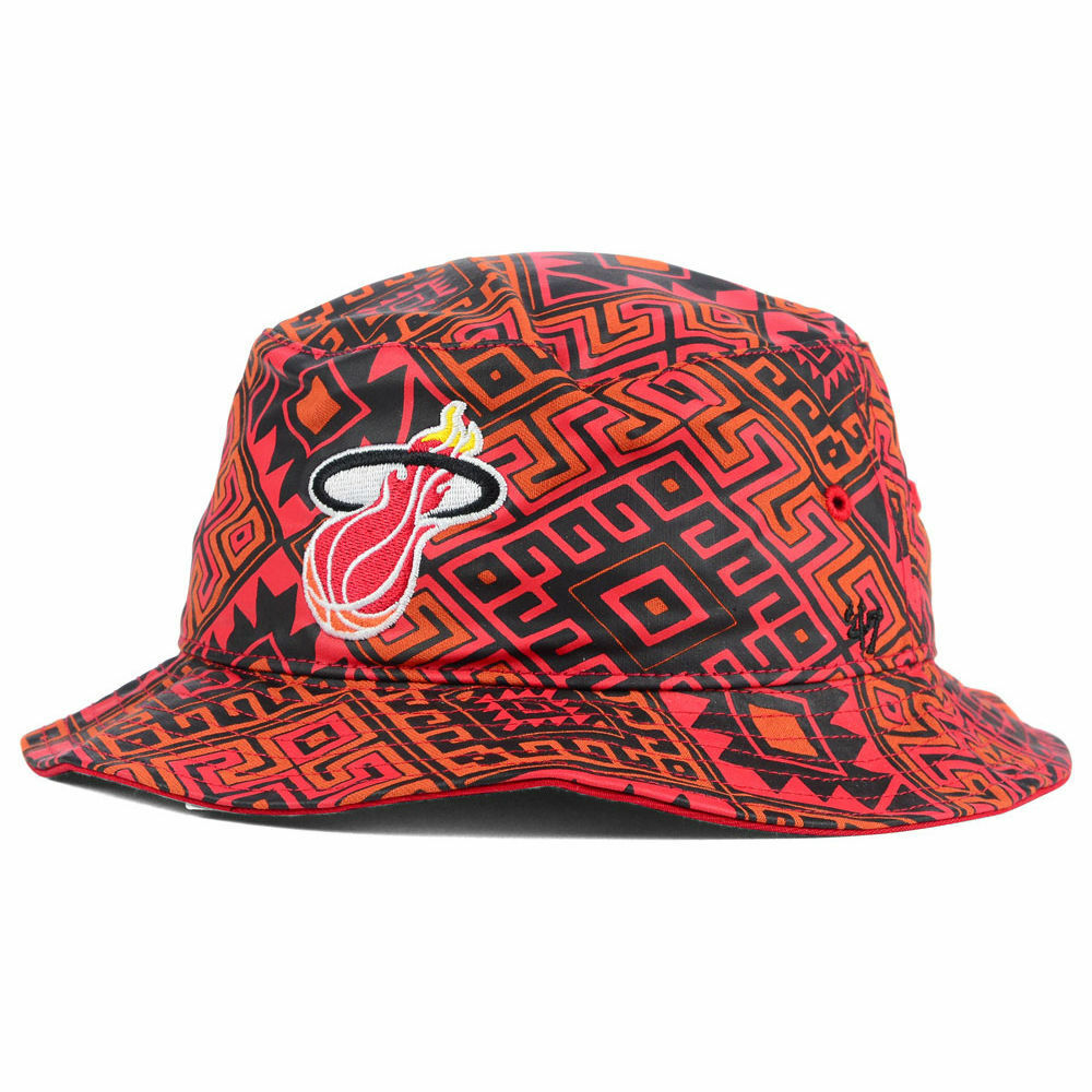 274694b92e Details about Miami Heat  47 Brand NBA HWC Emmer Bucket Hat Cap Floppy  Beach Sun Pool Men s LX