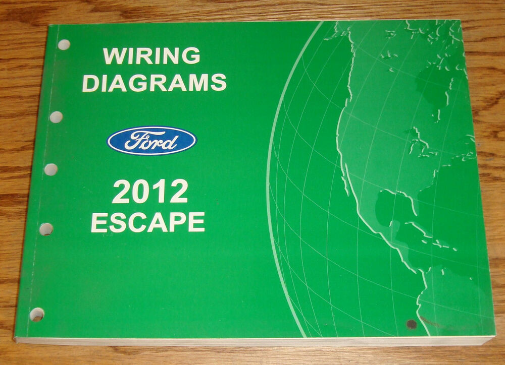 Original 2012 Ford Escape Wiring Diagrams Manual 12