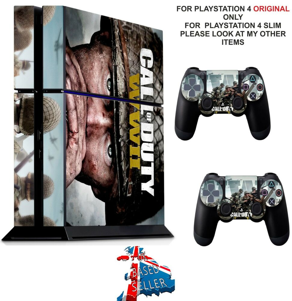 Call of duty wwii ps4 textured vinyl protective skin decal wrap stickers ebay