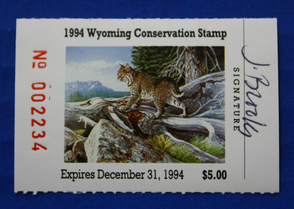 US WY11 1994 Wyoming State Conservation Stamp MNH Signed By Artist