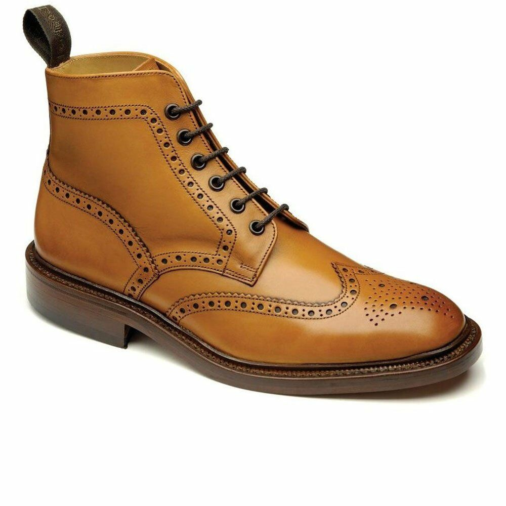 9287481d382ed Details about Loake Burford Brogue Leather Boots