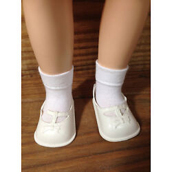 One pair white socks for 14'' P-90 Ideal Toni or Betsy McCall