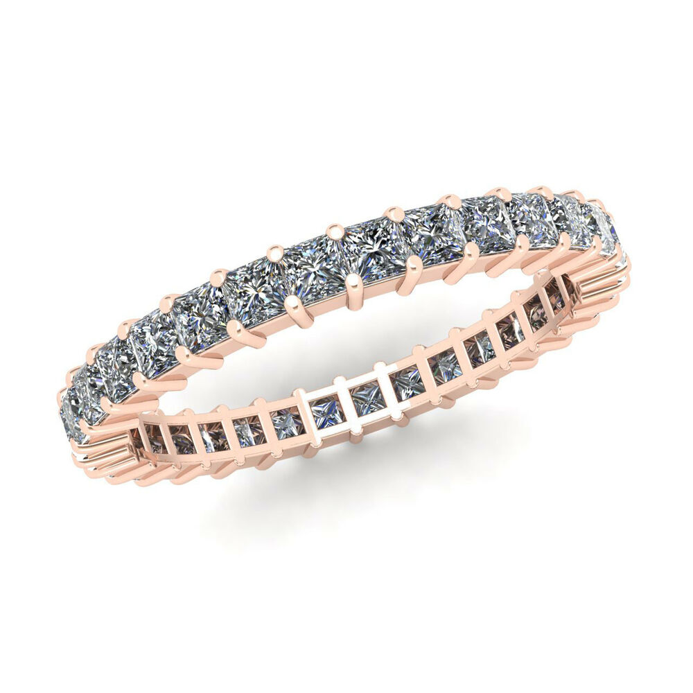1 80ct Princess Cut Diamond Shared Prong Eternity Band