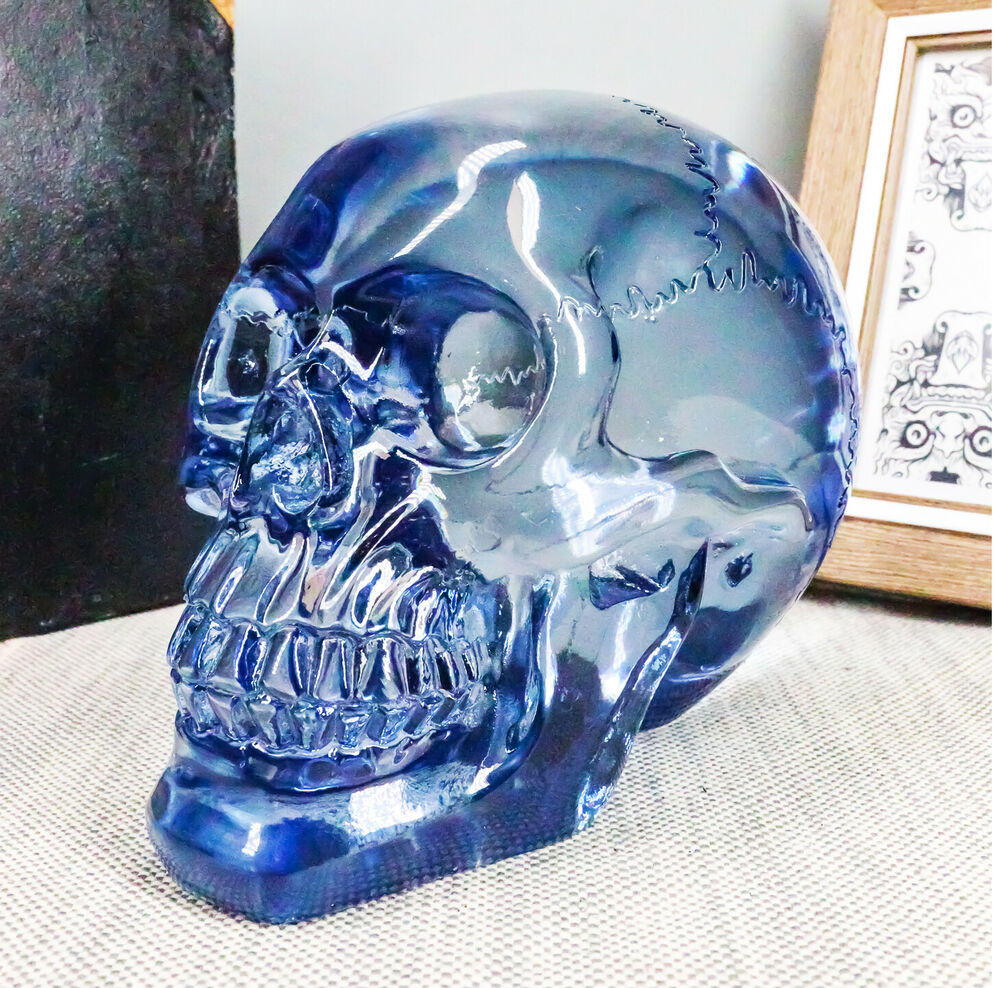 Pirate Crystal Skull Cave Tomb Treasure Blue Translucent Skull ...