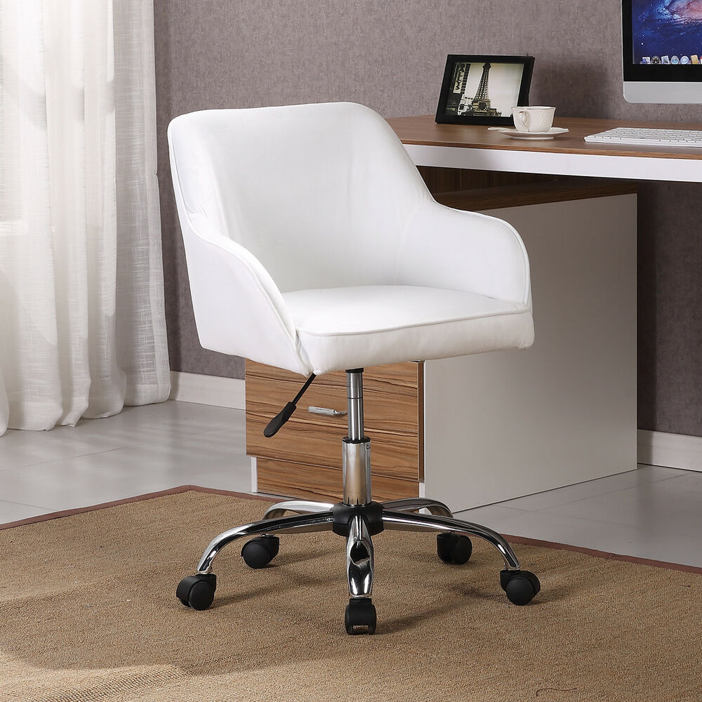 Modern Office Chair Task Desk Adjustable Swivel Height W ...