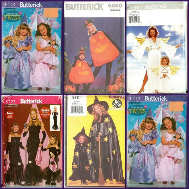 Details About OOP Butterick Patterns Halloween Costume Pattern Mother  Daughter You Pick