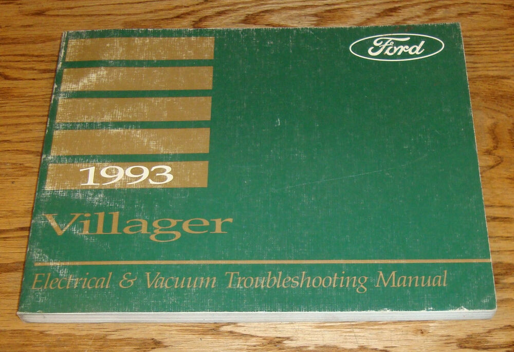 1993 Mercury Villager Wiring Diagram Evtm Manual 93
