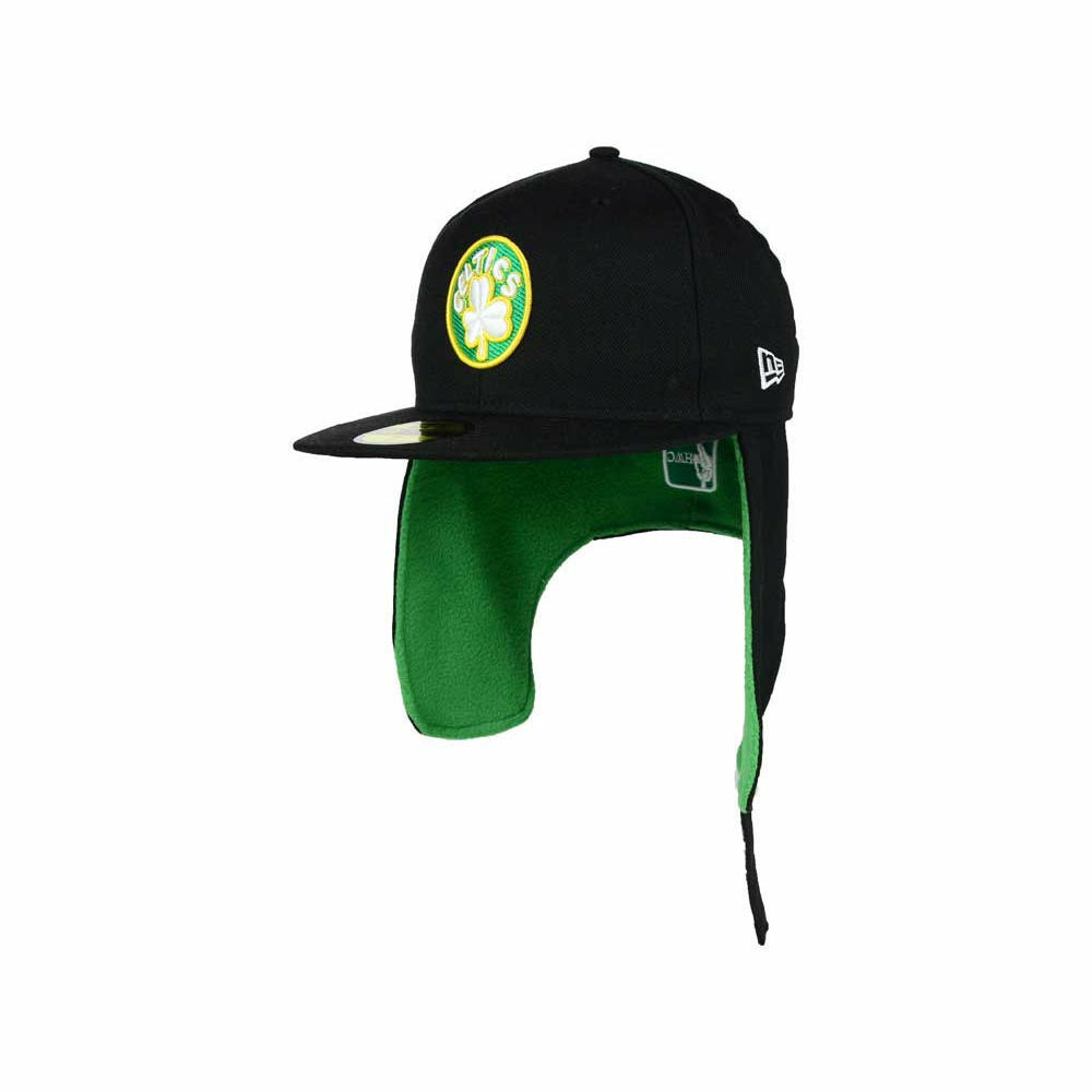 0e19a20f5 Details about Boston Celtics New Era NBA Team Dog Ear 59FIFTY Flat Bill  Brim Retro Cap Hat Lid